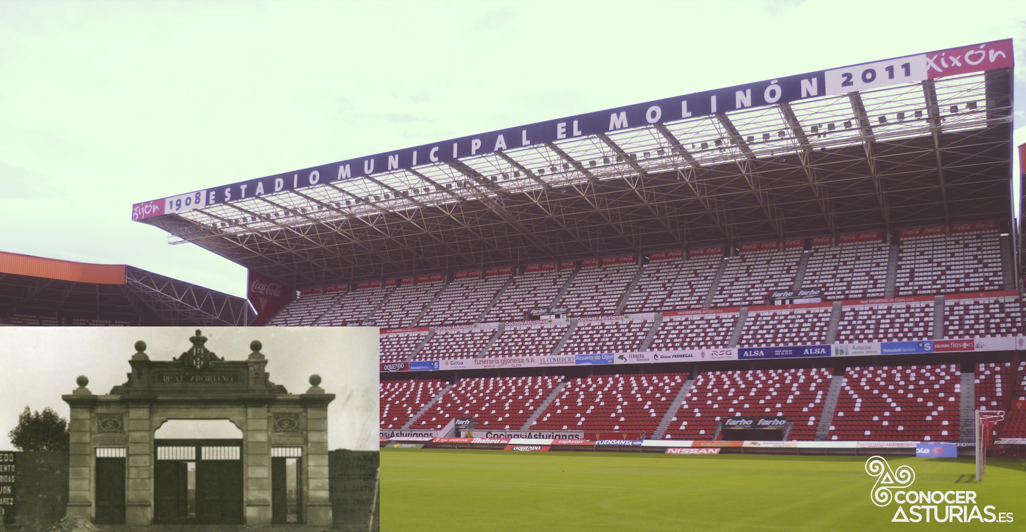 El Molinón es el estadio más antiguo de España.