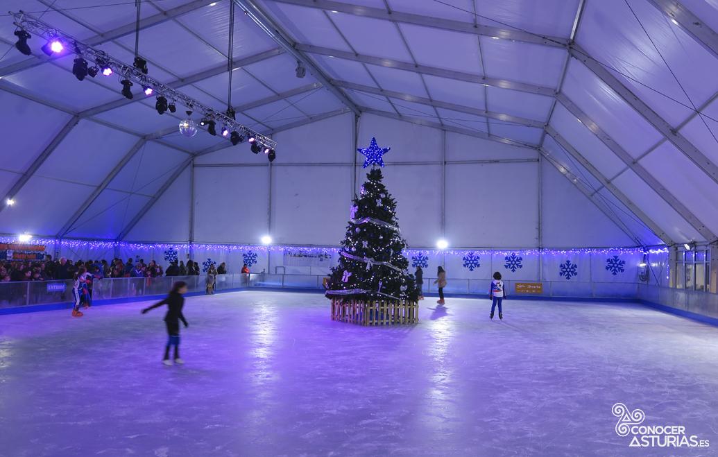 pistas de patinaje hielo navidad gijón
